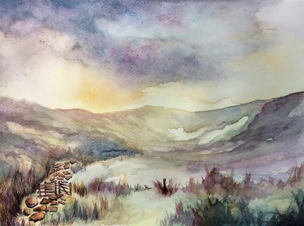 Nant Gwyant (Watercolour)