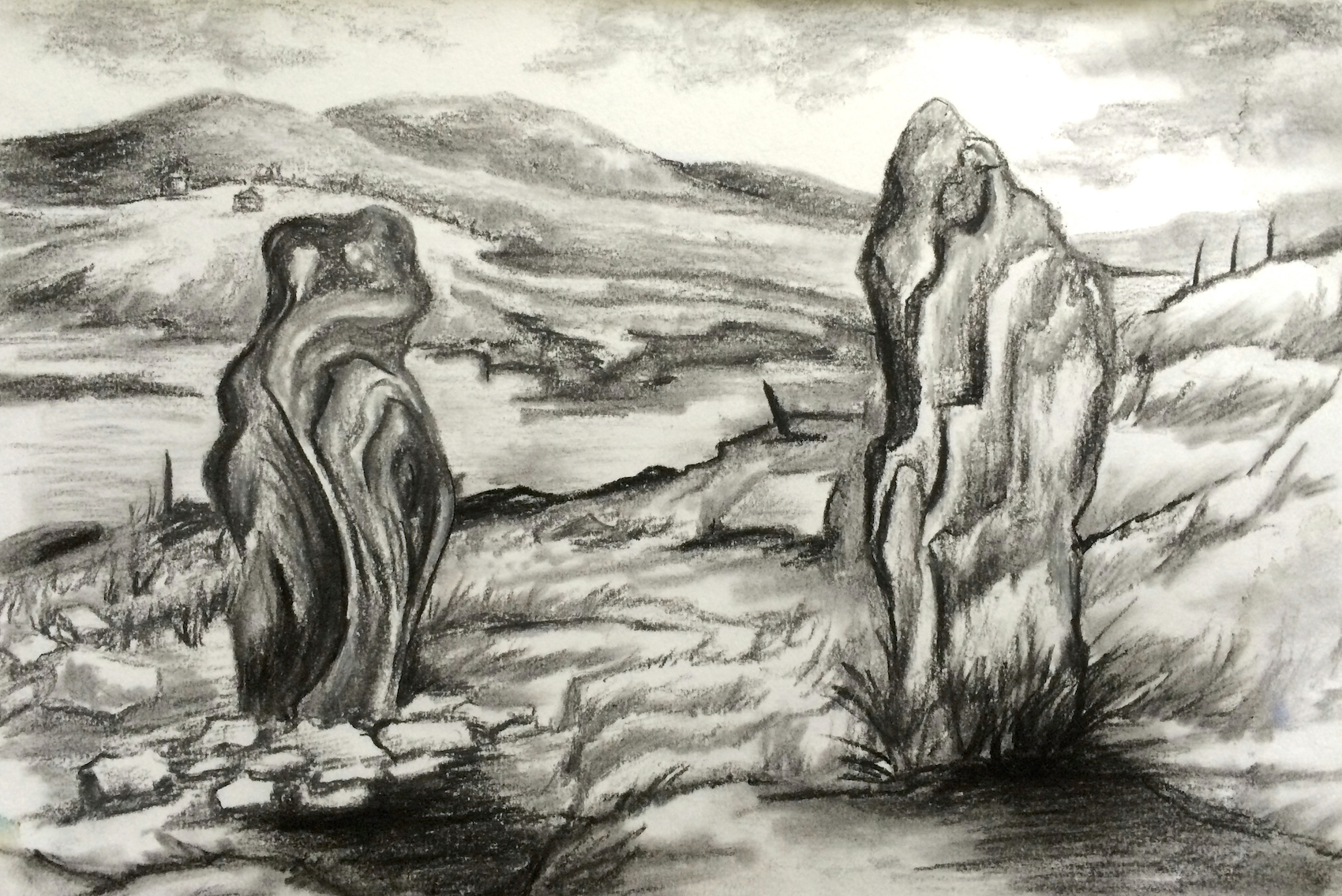 Standing Stones charcoal