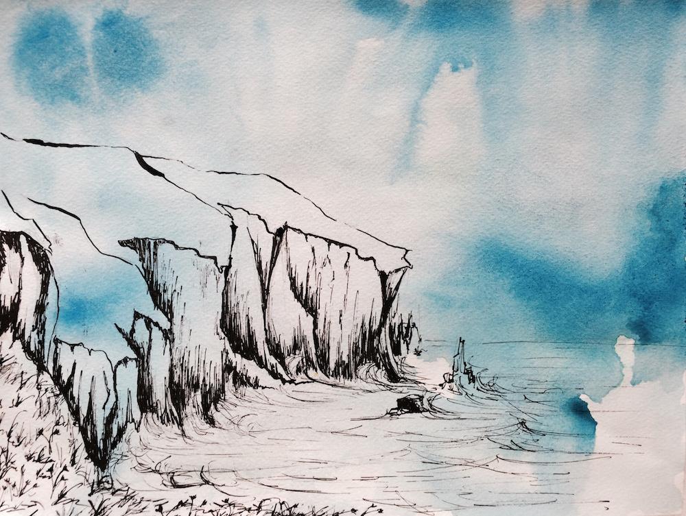 Jenny's Cove Ink Sketch